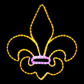"24"" Fleur De Lis Hanging Window Display"