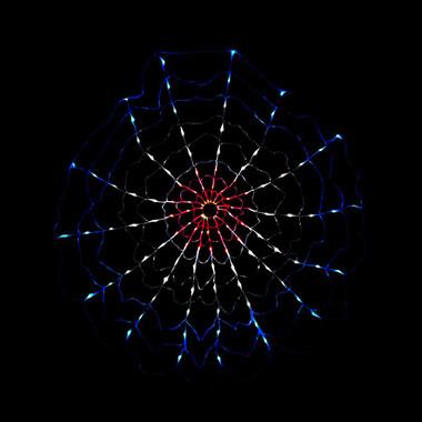 Red White Blue LED Chasing Motion Web Light String