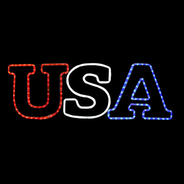 USA Rope Light Window Display with 8 Function Controller  sc 1 st  Action Lighting & LED USA MOTION ROPE LIGHT MOTIF SILHOUETTE WINDOW DISPLAY ... azcodes.com