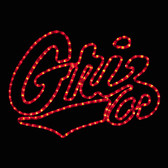 University of Montana Griz Rope Light Motif