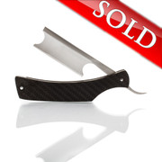 "DJH ""The Hatchet"" 8/8 Custom Straight Razor in Carbon Fiber"
