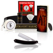 Straight American 6/8 Round Tip with Luxury Shave Set