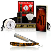 "Dovo Faux Tortoise Shell 5/8"" Straight Razor Set"