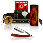 "Thiers-Issard 6/8"" Straight Razor Red Stamina Set"