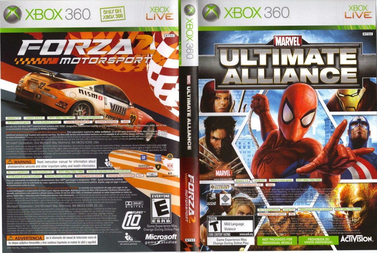 Marvel Ultimate Alliance / Forza Motorsport 2 - XBOX 360