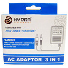 SNES 3 IN 1 AC ADAPTER (HYDRA)