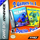 2 Games In 1 Double Pack: Finding Nemo / Monsters, Inc. - GBA (Cartridge Only)