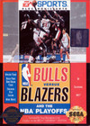 Bulls versus Blazers and the NBA Playoffs - Sega Genesis