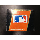 Major League Baseball Instruction Booklet - NES