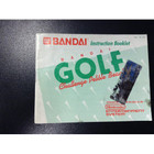 Bandai Golf Challenge Pebble Beach Instruction Booklet - NES