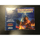 Iron Sword: Wizards & Warriors II Instruction Booklet - NES