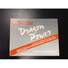 Dragon Power Instruction Booklet - NES