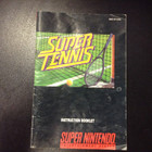 Super Tennis Instruction Booklet - SNES