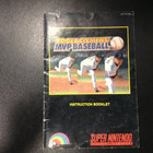 Roger Clemens MVP Baseball Instruction Booklet - SNES