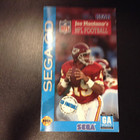 Joe Montana's NFL Football Instruction Booklet - Sega CD