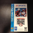 Bill Walsh College Football Instruction Booklet - Sega CD