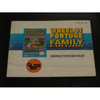 Wheel of Fortune: Family Edition Instruction Booklet - NES
