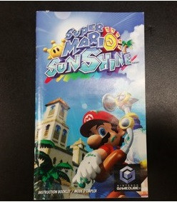 Super Mario Sunshine Instruction Booklet Gamecube