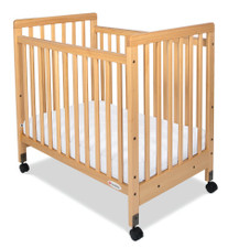 SafetyCraft® Compact-Size Fixed-Side Crib Slatted Headboard