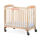 First Responder Evacuation Crib Fixed-Side Clearview Headboard