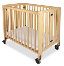 Hideaway Wood Folding Crib