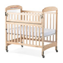 Serenity Compact Safe Reach Crib Clear Headboard w/adjustable Mattress Board