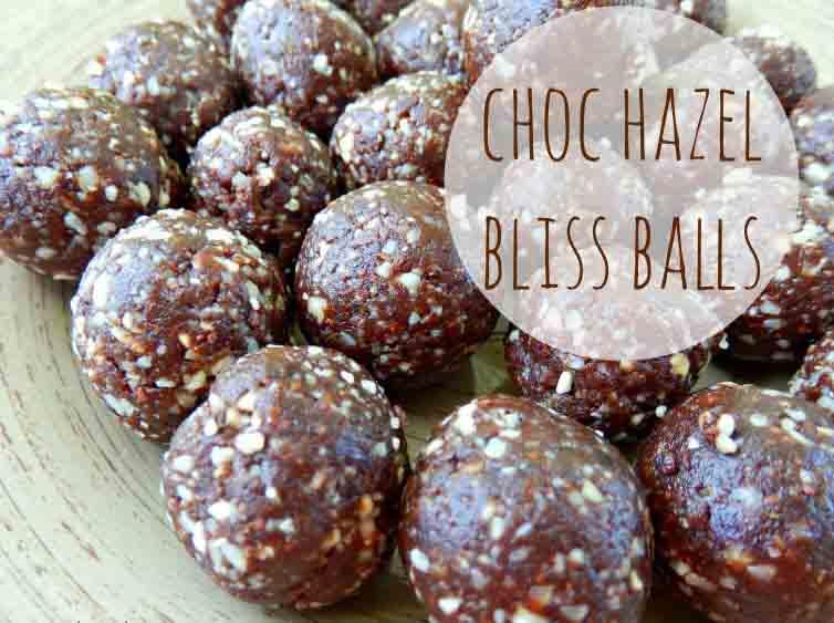 Hazelnut bliss ball recipe with crio bru australia