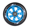 ENVY 7 Spoke Wheel Black on Blue 110MM Pair