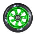 ENVY 7 Spoke Wheel Black on Green 110MM Pair