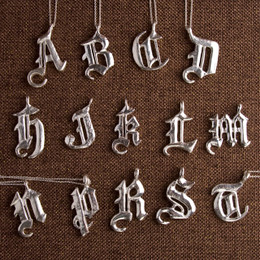 """Old Skool"" Calligraphy Initial Necklace"