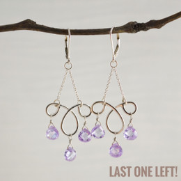 CLEARANCE! Ms. Charming Lilac CZ Earrings--50% OFF