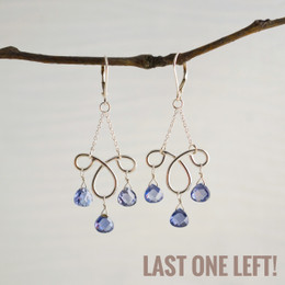 CLEARANCE! Ms. Charming Indigo CZ Earrings--50% OFF