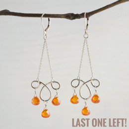 CLEARANCE! Ms. Charming Orange CZ Earrings--50% OFF