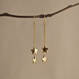 Gold Vermeil Shooting Stars Earrings