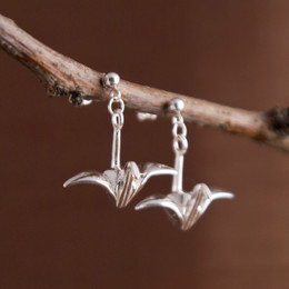 Origami Tsuru Earrings