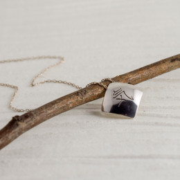 Abstract Kanji Necklace