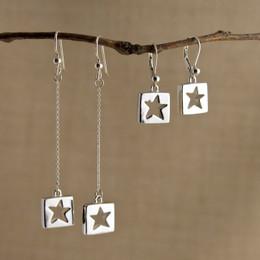 Stars for Squares Earrings