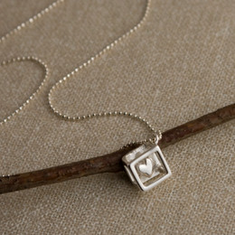 Heart in Cage Necklace