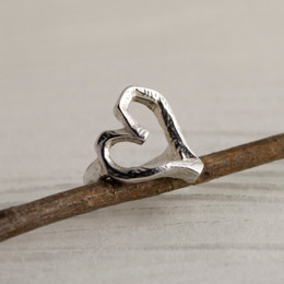 Rough Around the Edges Heart Ring