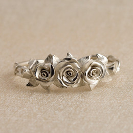 Made to Order Miniature Rose Cuff Bracelet