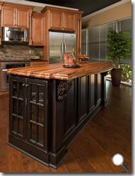 RTA Kitchen Cabinets - Distressed Black - RTA Cabinet Hub