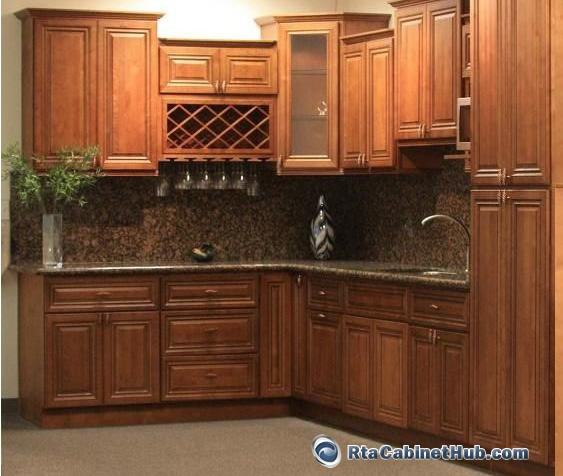 Kitchens With Glazed White Cabinets: RTA Kitchen Cabinets