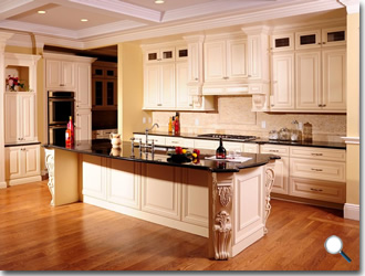 kitchens with cream colored cabinets maple glaze vanilla rta kitchen cabinets 8783