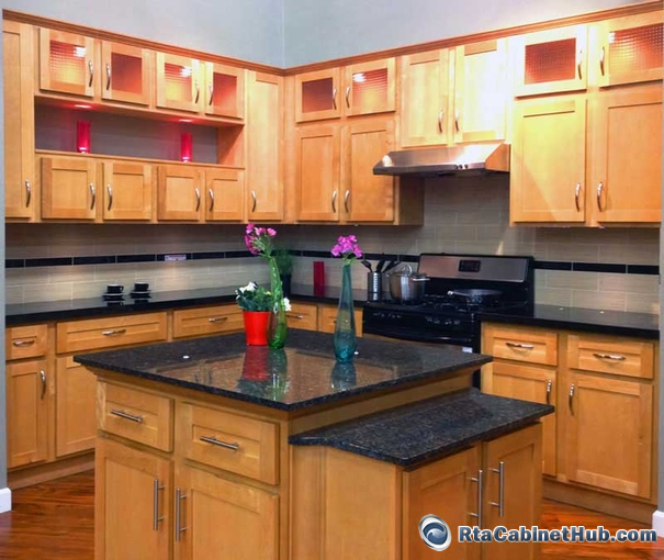 Painted Partial Or Half Overlay Kitchen Cabinets