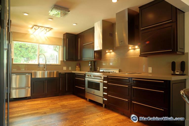 Dark Mahogany Kitchen Cabinets