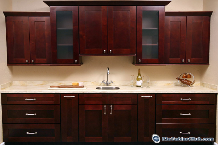 Mocha Rope Kitchen Cabinets