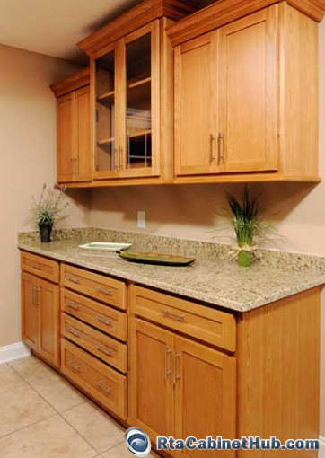 kitchen 2 cabinets all wood cabinets oak shaker 18087