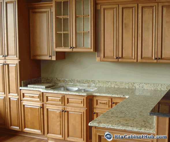 Honey Maple Kitchen Cabinets: Ready To Assemble Cabinets
