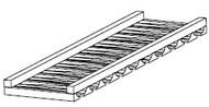 "Mahogany Maple Glass Rack 30""W"