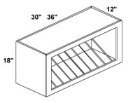 Mahogany Maple Plate Rack Cabinet